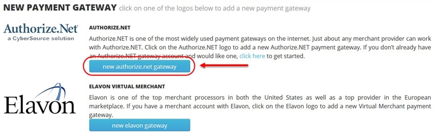 new authorize.net payment gateway