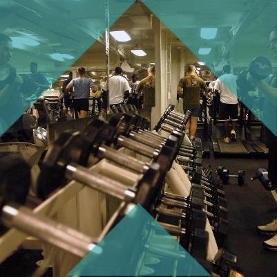 Members exercising.