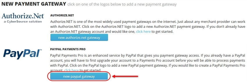 new PayPal payment gateway