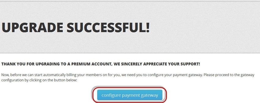 configure payment gateway button