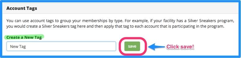 Enter description and click save.